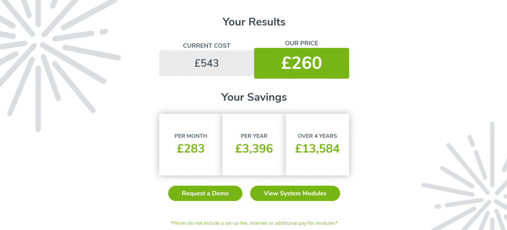 rxweb - savings calculator example